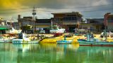 Japanese Port ARTCOLORED 02 stock footage