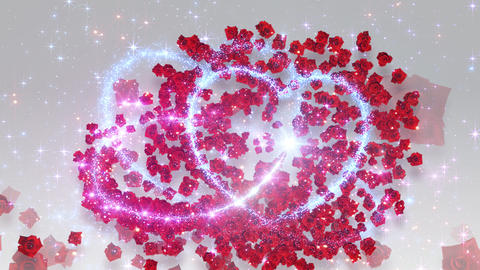 Heart Glitter 2 Rose CF2 Animation
