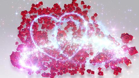 Heart Glitter 2 Rose CF2 Stock Video Footage