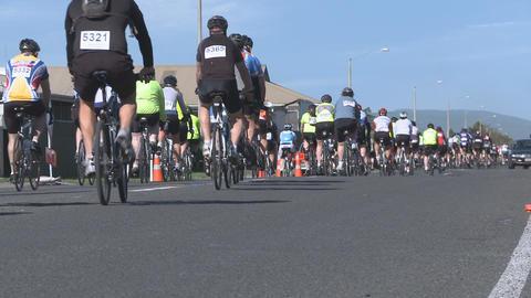 bikes in fun ride Stock Video Footage