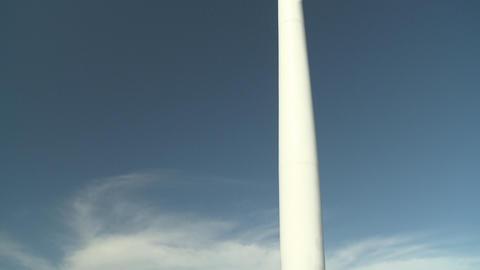 Large wind turbine tilt up shot Stock Video Footage