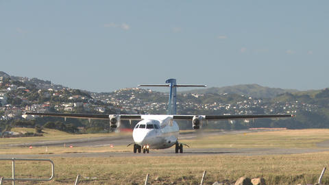 twin prop plane Stock Video Footage