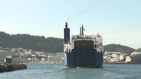 ferry departing Stock Video Footage
