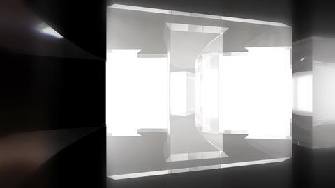 Circular Glass Maze Escape CG動画素材