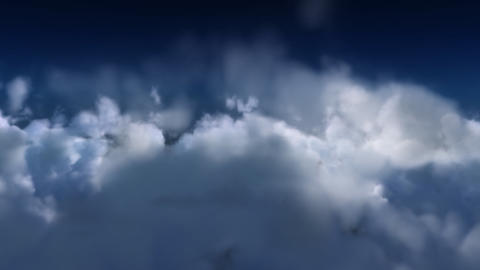 Cloud fly through. Matte Channel included Stock Video Footage