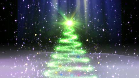 Christmas Tree And Snow