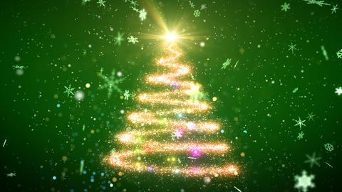 Christmas Tree And Snow 1