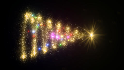 Christmas Tree Glitter Bcb2 Stock Video Footage