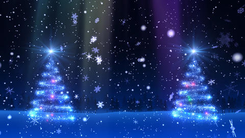 Christmas Tree Glitter Bw1 Stock Video Footage