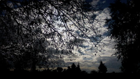 Evening clouds Stock Video Footage