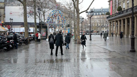 Paris street scene Stock Video Footage