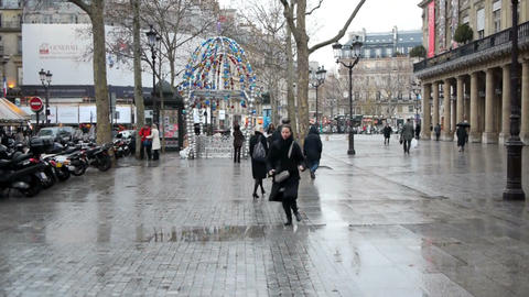 Paris street scene Footage