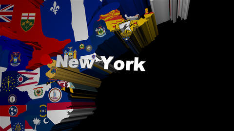 3D USA Map Zoom into New York Stock Video Footage