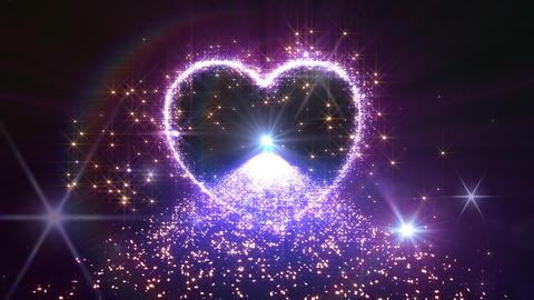 Heart Glitter 2 K2 Stock Video Footage