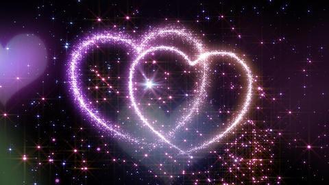 Heart Glitter 2 L1 Stock Video Footage