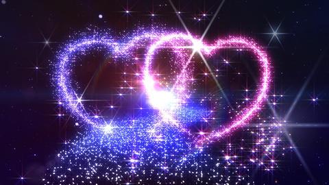 Heart Glitter 2 M2 Stock Video Footage