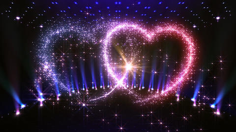 Heart Glitter 2 M3 Stock Video Footage
