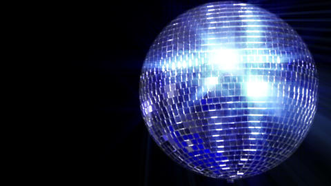 disco mirror ball right wide loop Footage