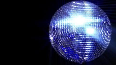 disco mirror ball right wide loop Stock Video Footage