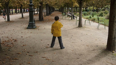 Young boy at the park Footage