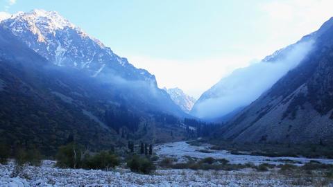 Mountain-landscape-23 Stock Video Footage