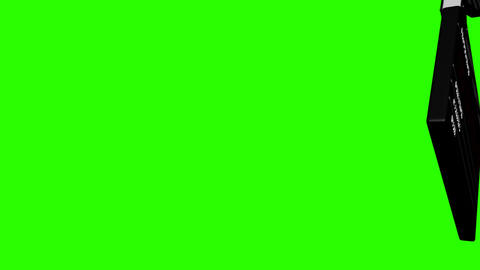 5x 3D CG Clapper board on Chroma Stock Video Footage