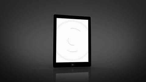 Circle interface montage displayed on tablet scree Animation