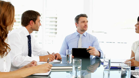 Business people discussing together during meeting Footage