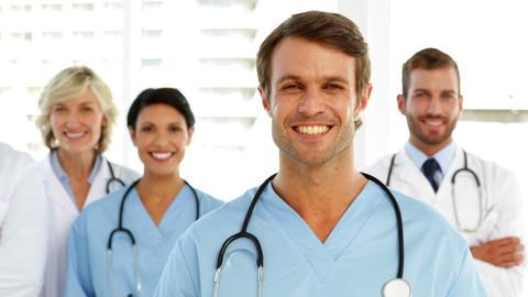 Smiling medical team Footage