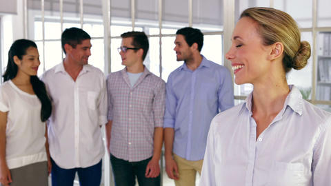 Young Creative Designers Posing Smiling At Camera stock footage