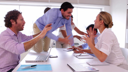 Business team disagreeing and fighting Stock Video Footage