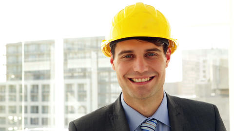 Architect smiling at camera Stock Video Footage
