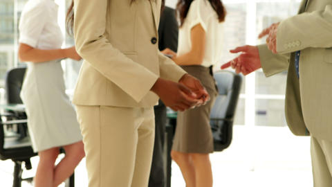 Business people talking together Stock Video Footage