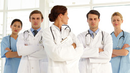 Confident medical team looking at camera Stock Video Footage