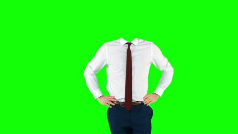 Headless businessman gesturing to camera Stock Video Footage