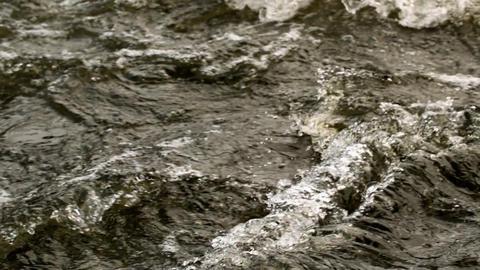 Rough dark choppy water moving Stock Video Footage