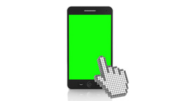 3d animation of touchscreen over a smartphone, 4k ビデオ