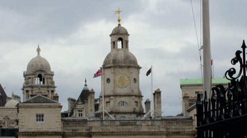 View of Horse Guards Parade towers in London Footage