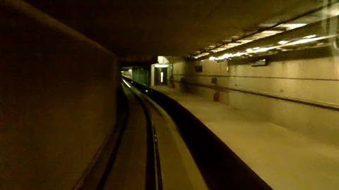 London Heathrow Subway In Tunnel 3 stock footage