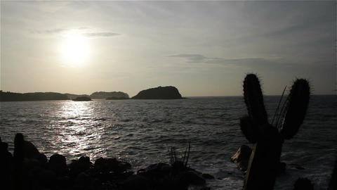 Sunrise over the Pacific Oaxaca Mexico 13 Footage