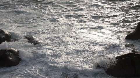 Rocky Shore in the Pacific in Oaxaca Mexico 1 Footage