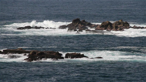 Rocky Shore In The Pacific In Oaxaca Mexico 9 stock footage