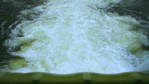 Water Discharge In Dam stock footage