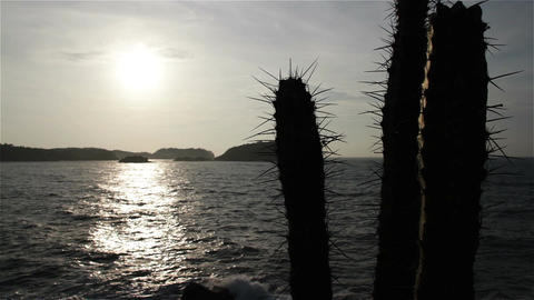 Sunrise over the Pacific Oaxaca Mexico 15 Footage