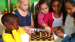 Preschool class learning how to play chess Footage