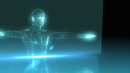 Medical animation with vitruvian man graphic Animation