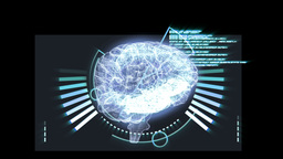 Revolving brain graphic with interface animation Animation