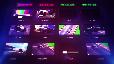 4 K Broadcasting Formula 1 Television Studio Head Animation