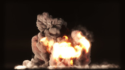 Raging Fire and Explosion with Matte v 1 2 stylize Animation