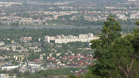 4 K Budapest Hungary Aerial View 39 northern part Footage